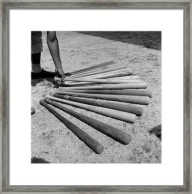 1950s Baseball Player Selecting Framed Print