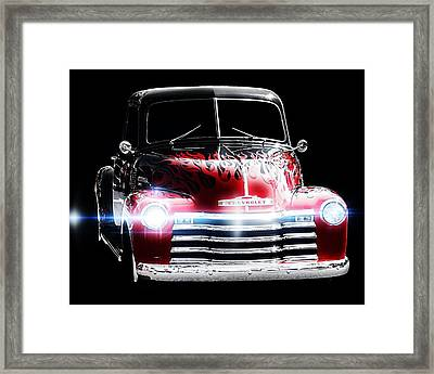 Framed Print featuring the photograph 1950's Chevrolet Truck by Aaron Berg