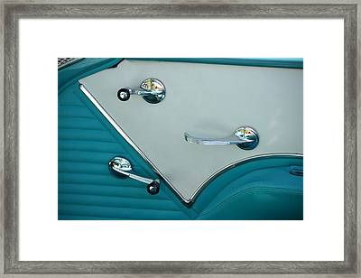 Framed Print featuring the photograph 1950's Chevy Interior by Dean Ferreira