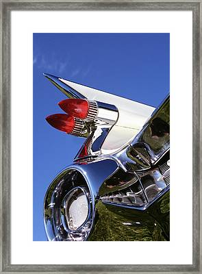 1950s Close Up Of Fins And Taillights Framed Print