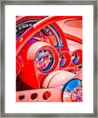 1950s Corvette Framed Print