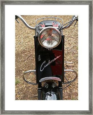 Framed Print featuring the photograph 1950's Cushman by Fortunate Findings Shirley Dickerson