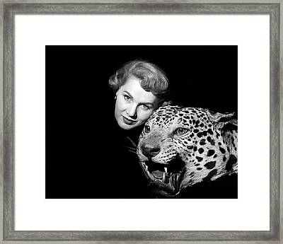 1950s Dramatic Face Shot Woman Looking Framed Print