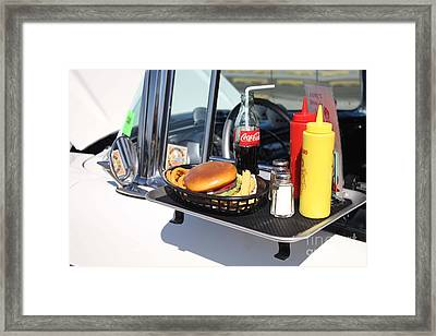 1950's Drive In Movie Snack Tray Framed Print by John Telfer