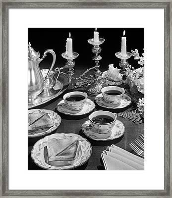 1950s Elegant Soup & Sandwiches Lunch Framed Print