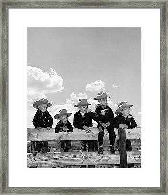1950s Five Boys Brothers Dressed Framed Print