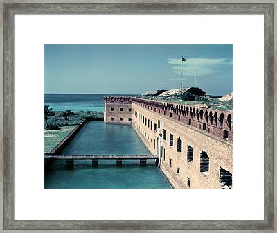 1950s Fort Jefferson Largest Masonry Framed Print