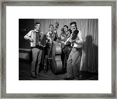1950s Four-piece Country & Western Band Framed Print