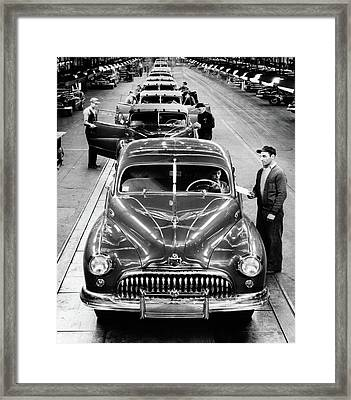 1950s Head-on View Buick Automobile Framed Print