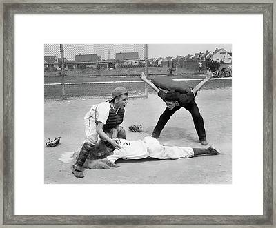 1950s Little League Umpire Calling Framed Print