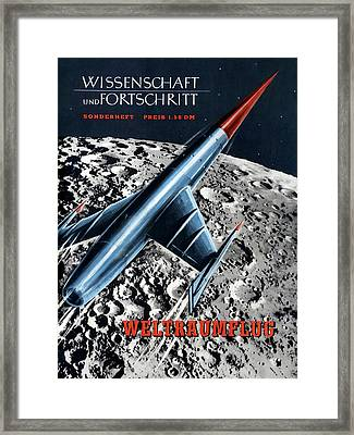 1950s Magazine On Spaceflight Framed Print by Detlev Van Ravenswaay