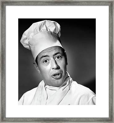 1950s Portrait Man Chef Humorous Framed Print