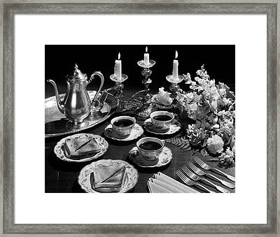 1950s Sandwiches Soup Candles Framed Print