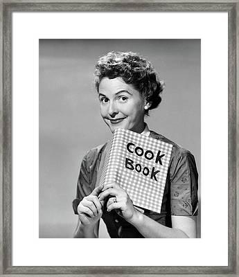 1950s Smiling Woman Looking At Camera Framed Print