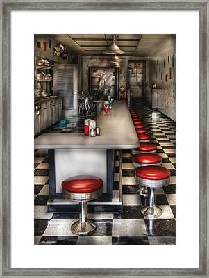 1950's - The Ice Cream Parlor  Framed Print