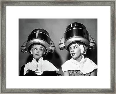 1950s Two Women Sitting Together Framed Print