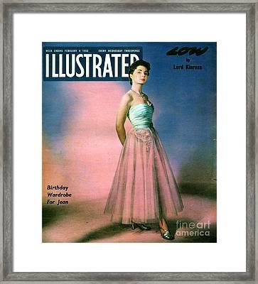 1950s Uk Illustrated Magazine Cover Framed Print