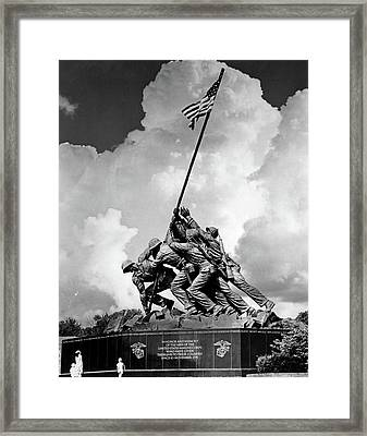1950s Usmc War Memorial Iwo Jima 1945 Framed Print