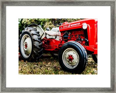 1950s-vintage Ford 601 Workmaster Tractor Framed Print by Jon Woodhams