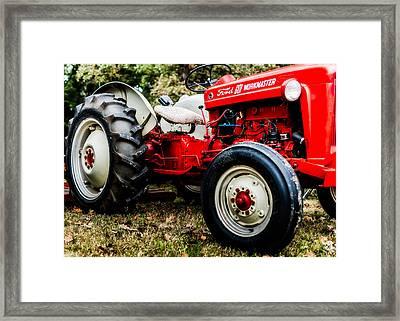 1950s-vintage Ford 601 Workmaster Tractor Framed Print