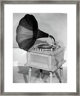 1950s Vintage Gramophone Converted Framed Print