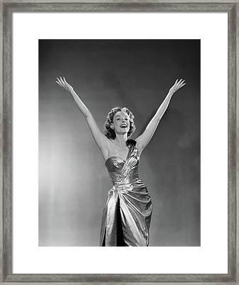 1950s Woman Singer Entertainer Framed Print