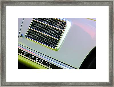 1951 Aston Martin Db2 Coupe Side Emblem Framed Print by Jill Reger