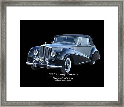 1951 Bentley M K  V I Drop Head Coupe Framed Print by Jack Pumphrey