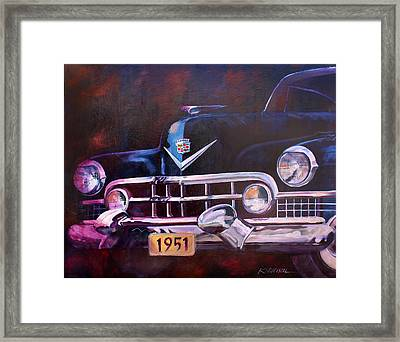 1951 Cadillac Framed Print by Ron Patterson