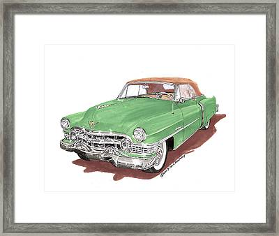 1951 Cadillac Series 62 Convertible Framed Print by Jack Pumphrey