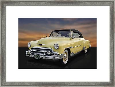 1951 Chevrolet Deluxe Convertible Framed Print by Frank J Benz