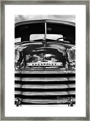 1951 Chevrolet Pickup Monochrome Framed Print