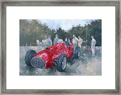 1951 Ferrari Oil On Canvas Framed Print