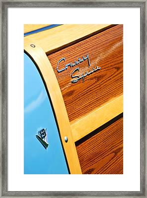 1951 Ford Country Squire Woody Wagon Side Emblems -3369c Framed Print by Jill Reger