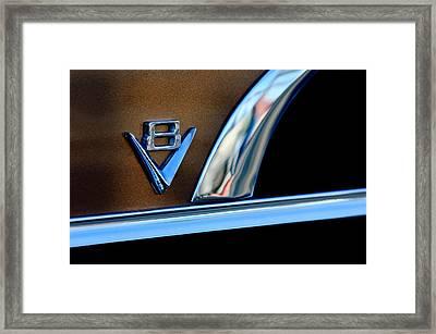 1951 Ford Crestliner V8 Emblem Framed Print by Jill Reger