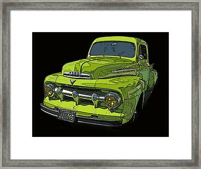 1951 Ford Pickup Truck Framed Print by Samuel Sheats