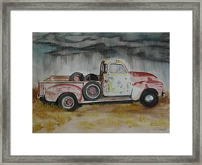 1951 Gmc Truck With Charactor Framed Print by L J Penrod