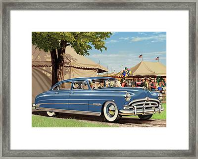 1951 Hudson Hornet Blank Greeting Card Framed Print by Walt Curlee