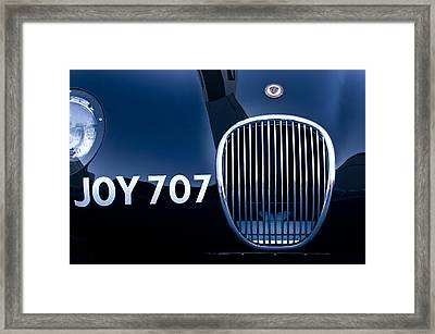 1951 Jaguar Proteus C-type Grille Emblem 3 Framed Print by Jill Reger