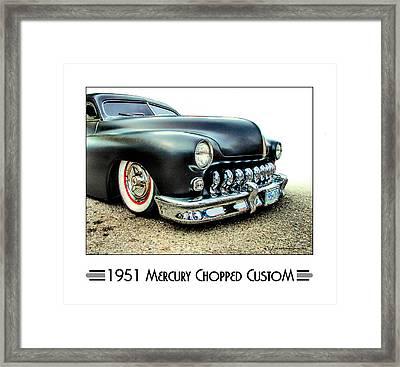 1951 Mercury Chopped Custom Framed Print by Dries Veerman