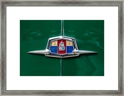 1951 Plymouth Suburban Emblem Framed Print by Jill Reger