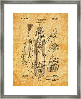 1951 Setterblade Fishing Lure Patent Framed Print by Barry Jones