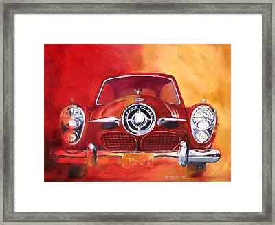 1951 Studebaker Framed Print by Ron Patterson