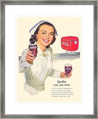 1952 - Coca-cola Advertisement - Color Framed Print