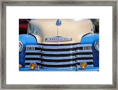 1952 Chevrolet Pickup Truck Grille Emblem Framed Print