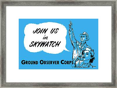 1952 Cold War Skywatch Poster Framed Print