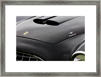 1952 Ferrari 212 225 Barchetta Hood Emblems Framed Print by Jill Reger