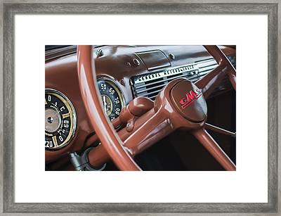 1952 Gmc Suburban Steering Wheel Emblem Framed Print by Jill Reger