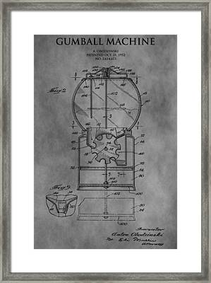 1952 Gumball Machine Patent Framed Print