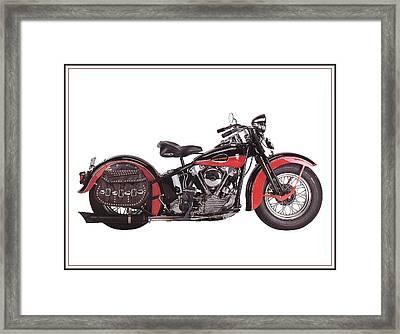 1952 Harley Davidson Framed Print